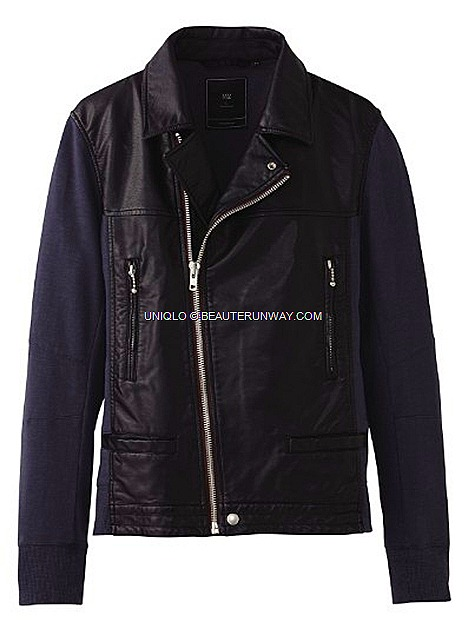 UNIQLO Undercover UU Spring Summer 2012 Men Jacket leather mixed Japanese cult designer Jun Takahashi