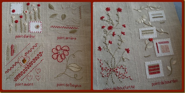 COLLAGE MON CAHIER DE BRODERIE 1 HOJAS 1 Y 2 GENERAL