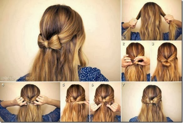 diy-wedding-hairstyle-tutorial-for-long-hair-simple-wedding-bow-hairstyle-fiyonk-seklinde-kolay-sac-modeli-nasil-yapilir