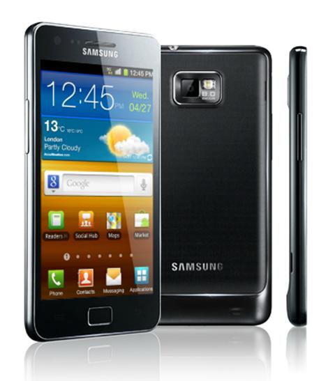 Tampilan Samsung Galaxy S II