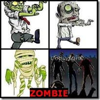ZOMBIE- 4 Pics 1 Word Answers 3 Letters
