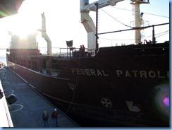 5200 Michigan - Sault Sainte Marie, MI - Soo Locks  - freighter Federal Patroller entering MacArthur Lock