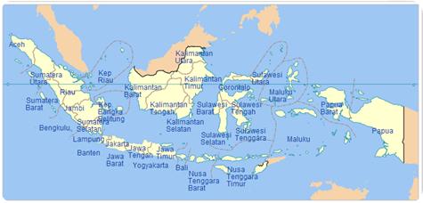 apa saja nama kota dan kab di indonesia