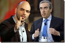 Roberto Saviano e Maurizio Gasparri