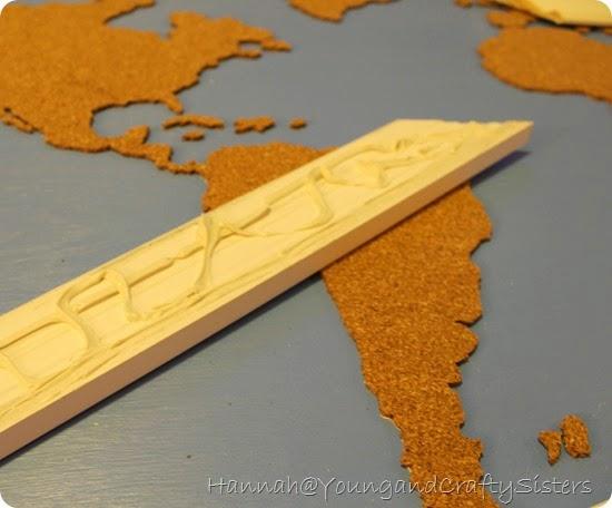 Cork board world map 5