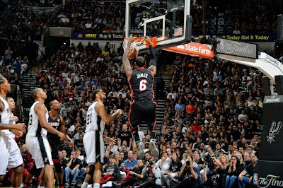 lebron james nba 140615 mia at sas 17 game 5 San Antonio Spurs Are Champions Again After Defeating Miami Heat in 2014 NBA Finals