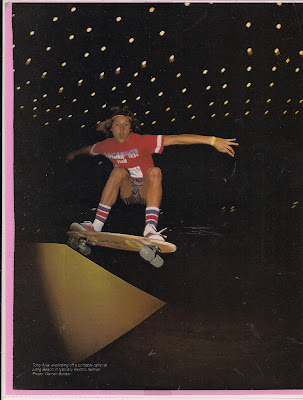 This photo was during Tony&#039;s  1977 routine at the Long Beach Contest