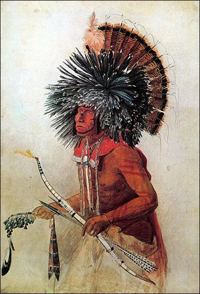 Kark Bodmer, Portrait d'indien