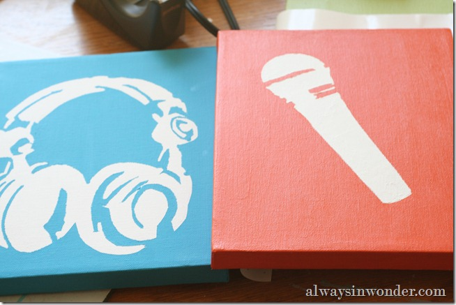 DIY Stencil and Artwork (27)