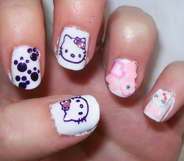 Nail Designs Hello Kitty 1024x898 Hello Kitty Acrylic Nail Designs