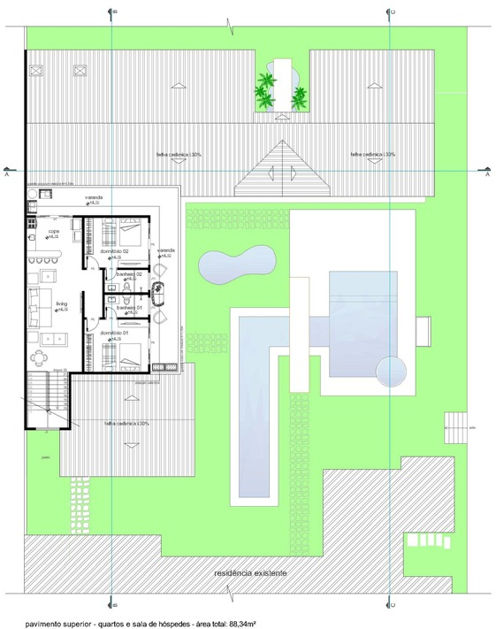 área de lazer - planta baixa pav. superior -Model