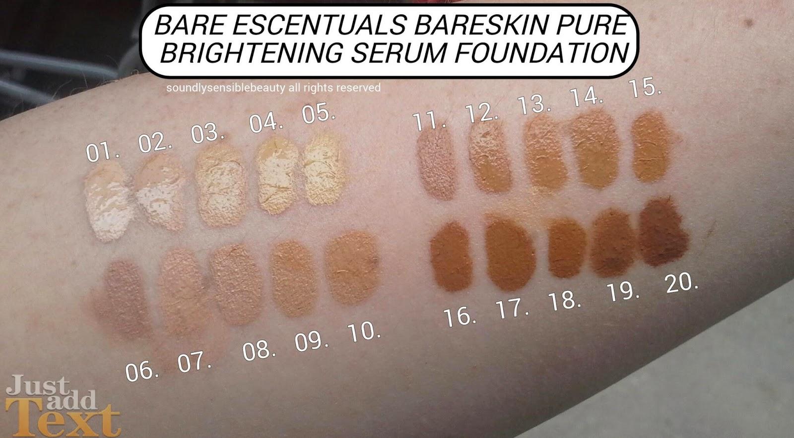 bareskin pure brightening serum foundation