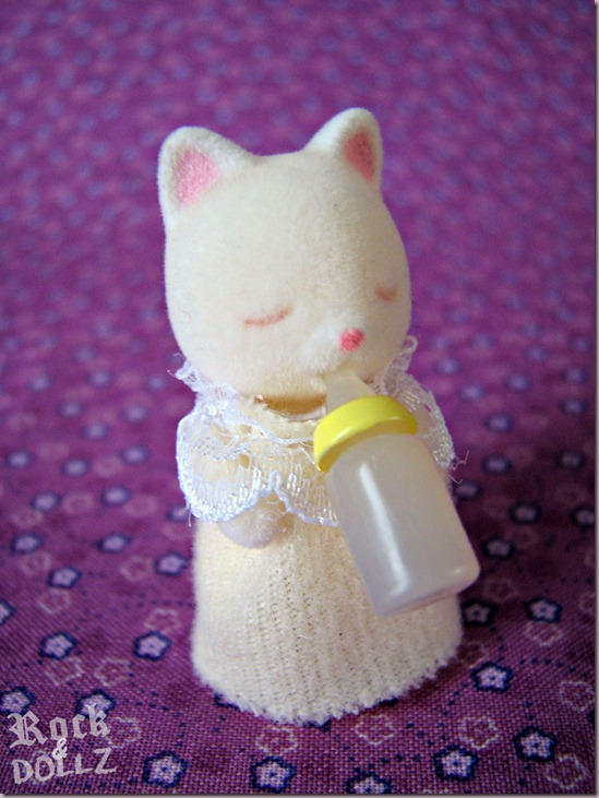Sylvanian Silk Cat Baby Girl
