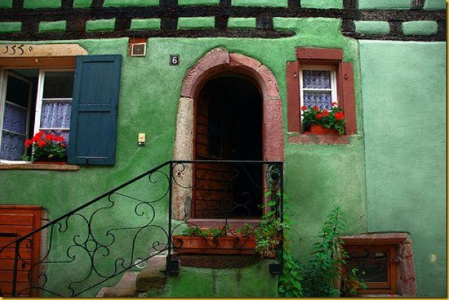 colorful french house