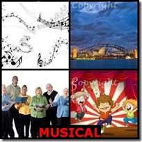 MUSICAL- 4 Pics 1 Word Answers 3 Letters