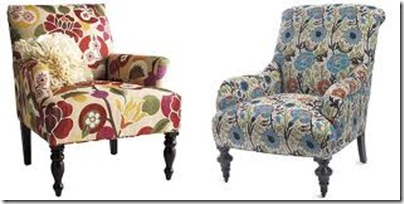 floral upholstered chair