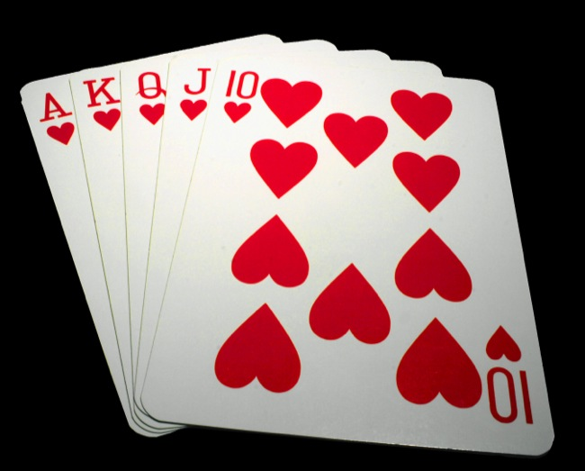 CC Photo Google Image Search Source is upload wikimedia org  Subject is poker Royal straight flush