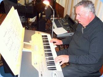 Ken Mahy played the arrival music for us on his Korg Pa1X