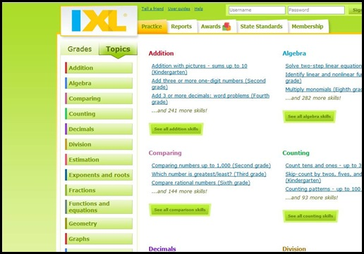 IXL by Topic