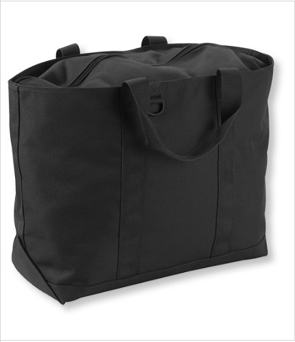 I also love the Hunter's Tote Bag in black.  It's so chic and would look great with a monochromatic monogram.