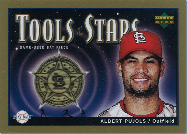 2004 Play Ball Pujols Bat 25 of 25