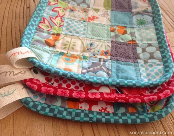 Scrappy Quilted Trivets Tutorial