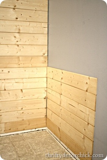 planked walls with pine