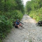 Дорога по руслу пересохшей реки