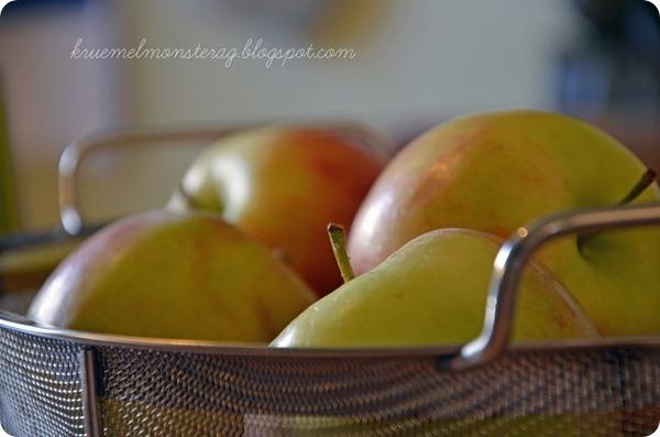 5 von 7 Sachen - Äpfel aufgefüllt