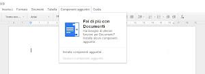 Google Docs - i componenti aggiuntivi