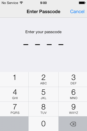 Enter your passcode to install the profile
