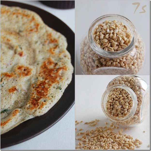 Whole wheat grain dosai collage