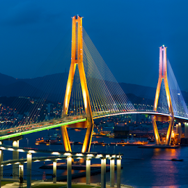 Busan Harbor Bridge by Keith Homan - Buildings & Architecture Bridges & Suspended Structures (  )