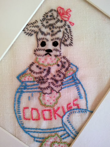 poodle embroidery project