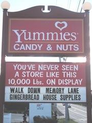 11.2011 Maine Kittery  Yummies street sign5