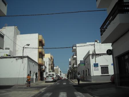 Peisaj urban - în capitala Arrecife din Lanzarote