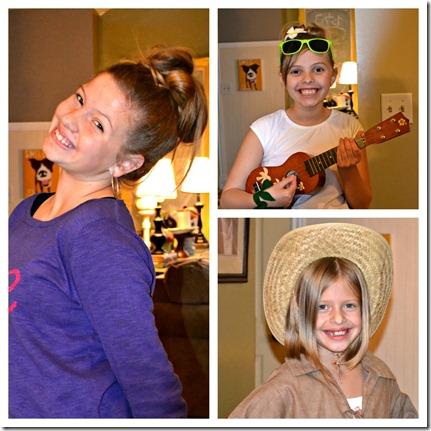 halloween girls collage
