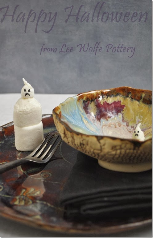 Halloween Ghosts tutorial from Lee Wolfe Pottery