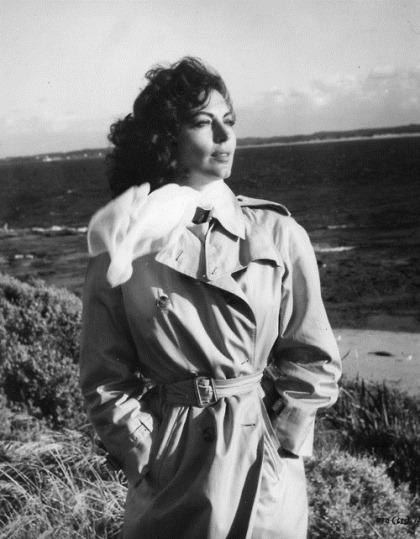 """Ava Gardner dans le film """"sur le rivage"""""""