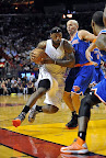 lebron james nba 121206 mia vs nyk 09 LeBron James Nears 2nd Triple Double, Wears Lavas in a Loss
