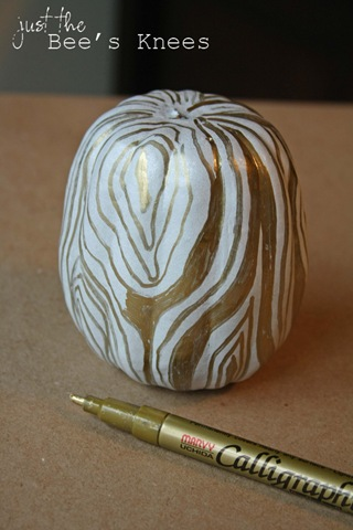 faux bois pumpkin how to