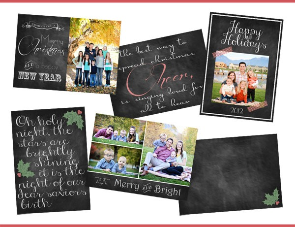 Free Chalkboard Christmas Card Downloads by Chelsea Peterson Photography