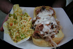 Pulled Pork Shoulder and Cole Slaw from Chris Lilly of Big Bob Gibson Bar-B-Q in Decatur, AL (Notice their signature white BBQ sauce, which is usually meant for chicken but tastes good on pork, too!)