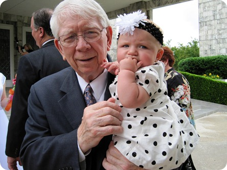 Grandpa Park and Hailey at 6 months