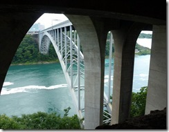 Under the Rainbow Bridge at Niagara-Canada