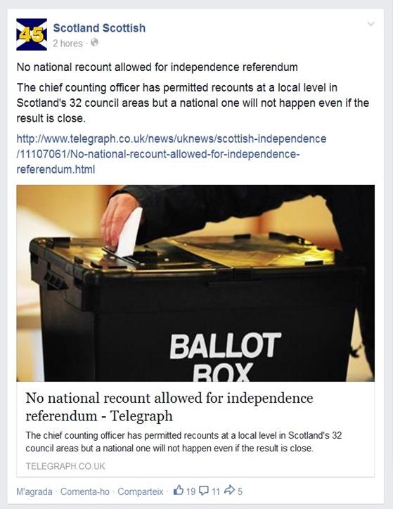 Frauda en Escòcia pel referèndum The Telegraph