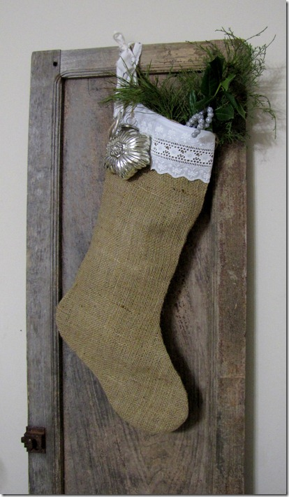 burlap stocking 1