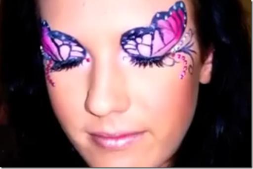 Maquillaje fantasía una mariposa en los ojos - Disfraz casero