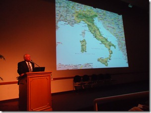 Rod DeGiulio spoke about the FamilySearch/Italy project