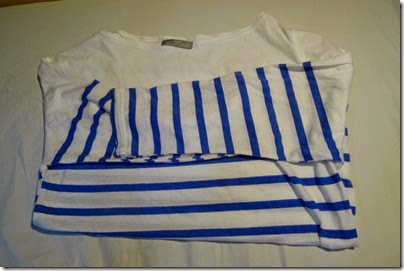 ZARA blue-white-stripe shirt